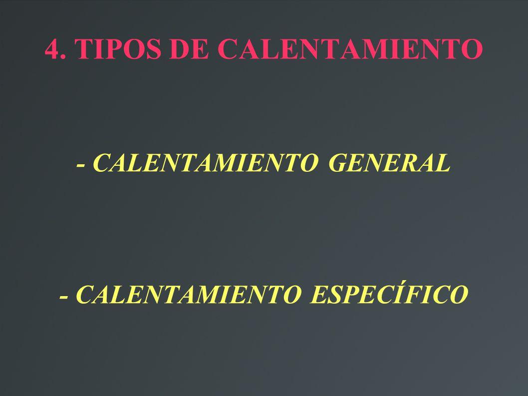 4. TIPOS DE CALENTAMIENTO