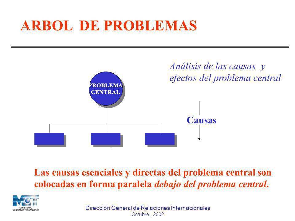 ARBOL DE PROBLEMAS COOPERACIÓN TÉCNICA INTERNACIONAL