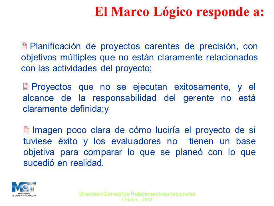 El Marco Lógico responde a:
