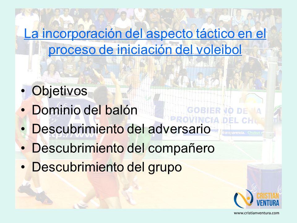 La incorporación del aspecto táctico en el proceso de iniciación del voleibol