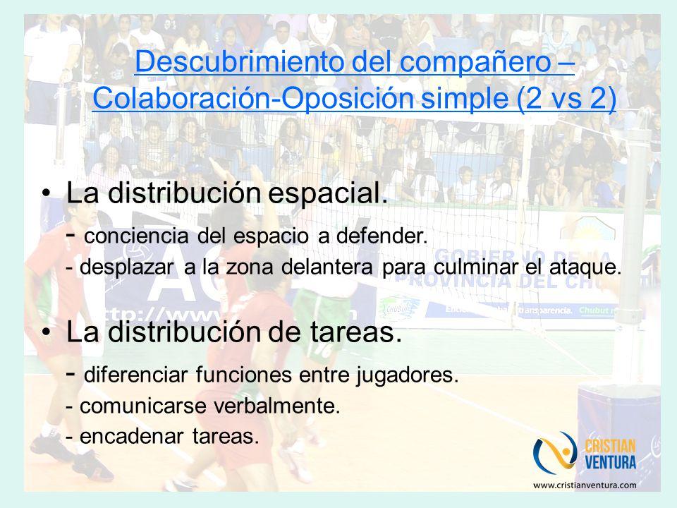 Descubrimiento del compañero – Colaboración-Oposición simple (2 vs 2)