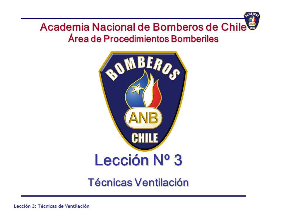Lección Nº 3 Academia Nacional de Bomberos de Chile