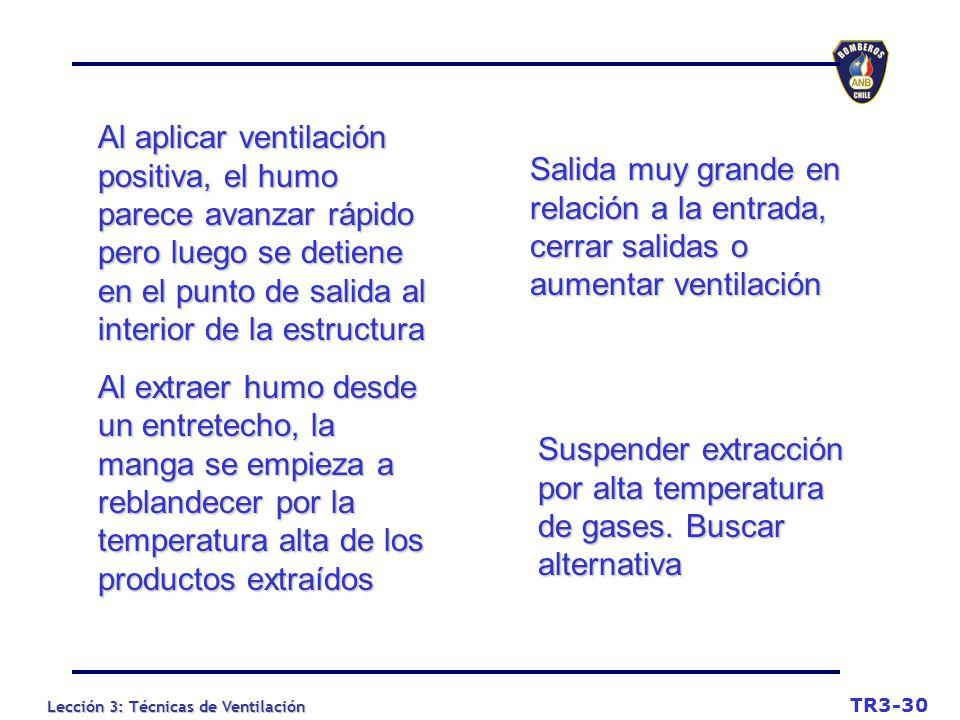 Suspender extracción por alta temperatura de gases. Buscar alternativa
