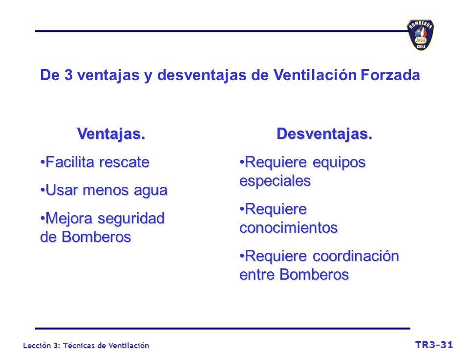 De 3 ventajas y desventajas de Ventilación Forzada