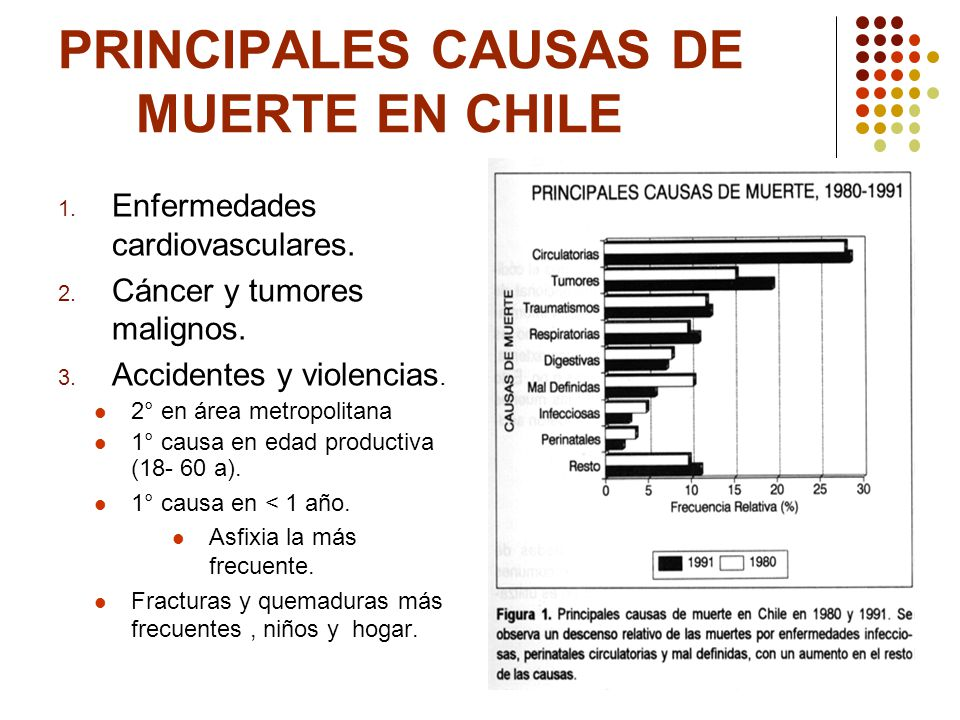 Principales causas de muerte en chile