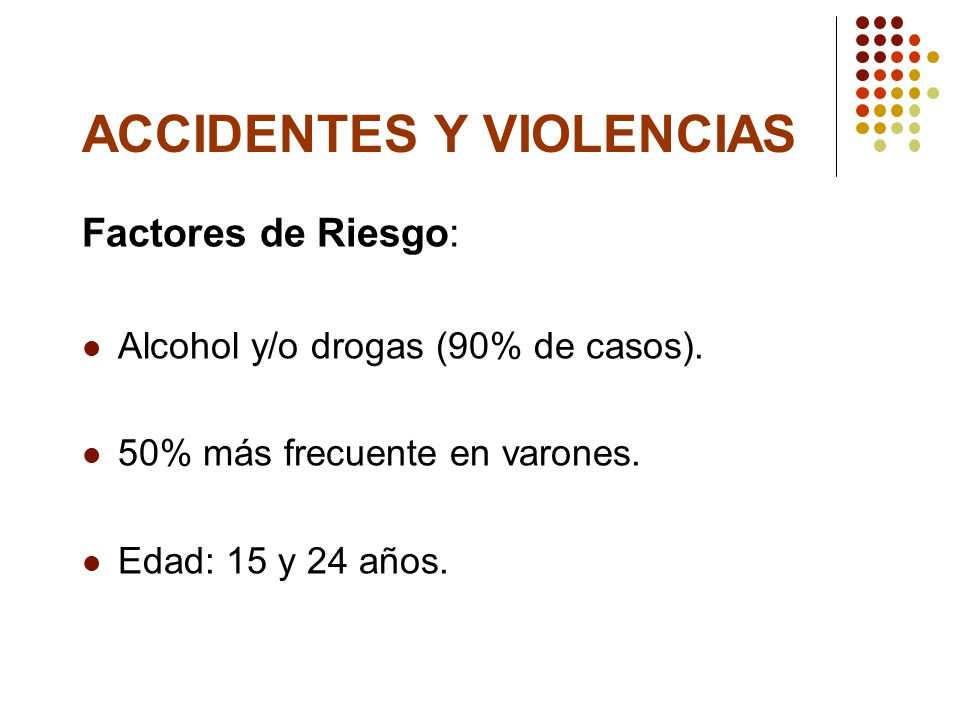 Accidentes y violencias