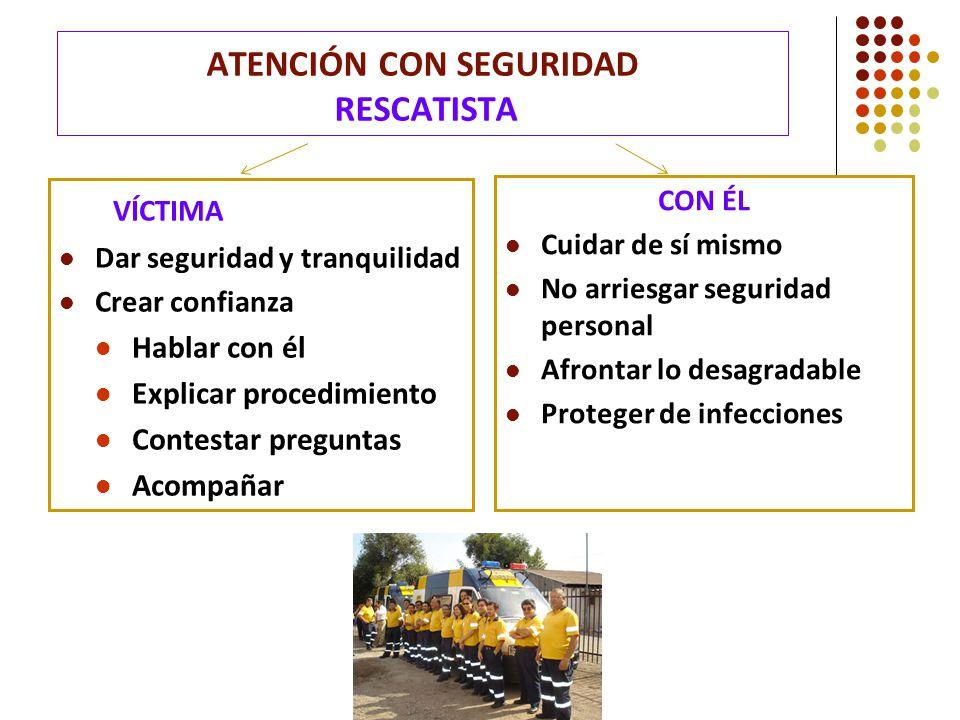 ATENCIÓN CON SEGURIDAD RESCATISTA