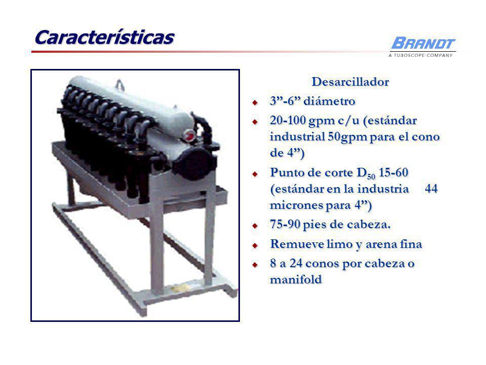 Características Desarcillador 3 -6 diámetro