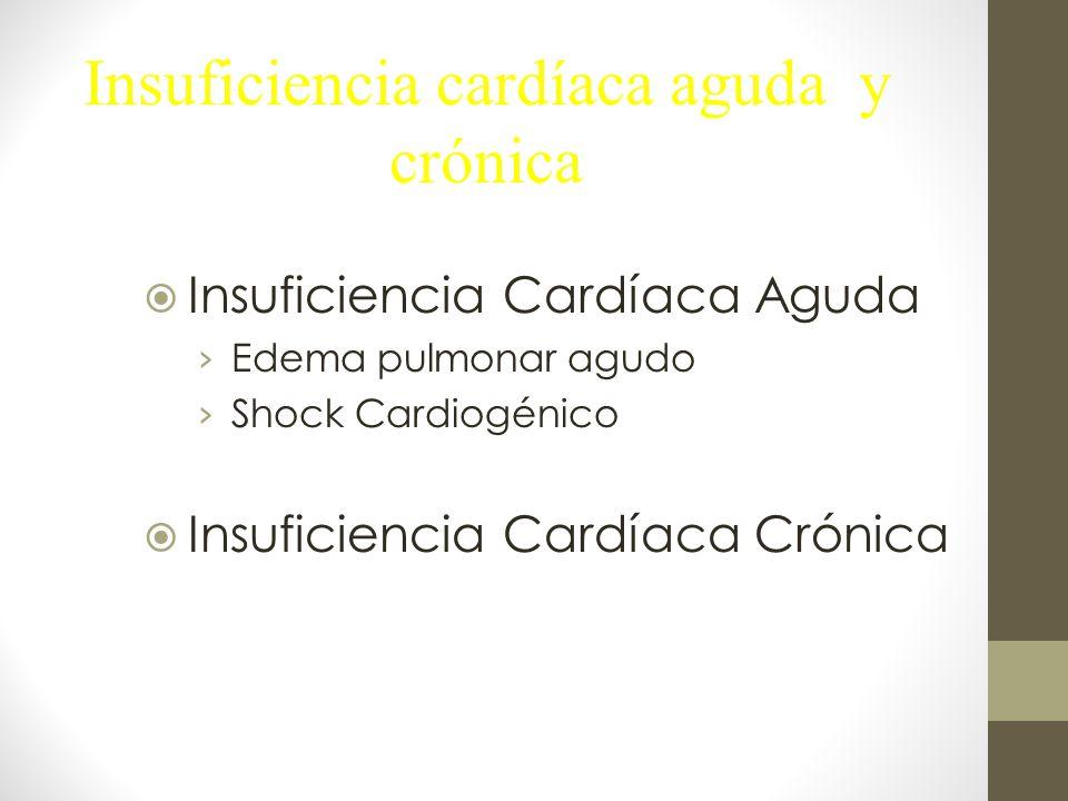 Insuficiencia cardíaca aguda y crónica