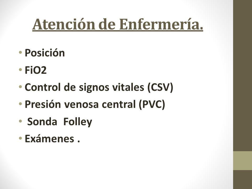 Atención de Enfermería.