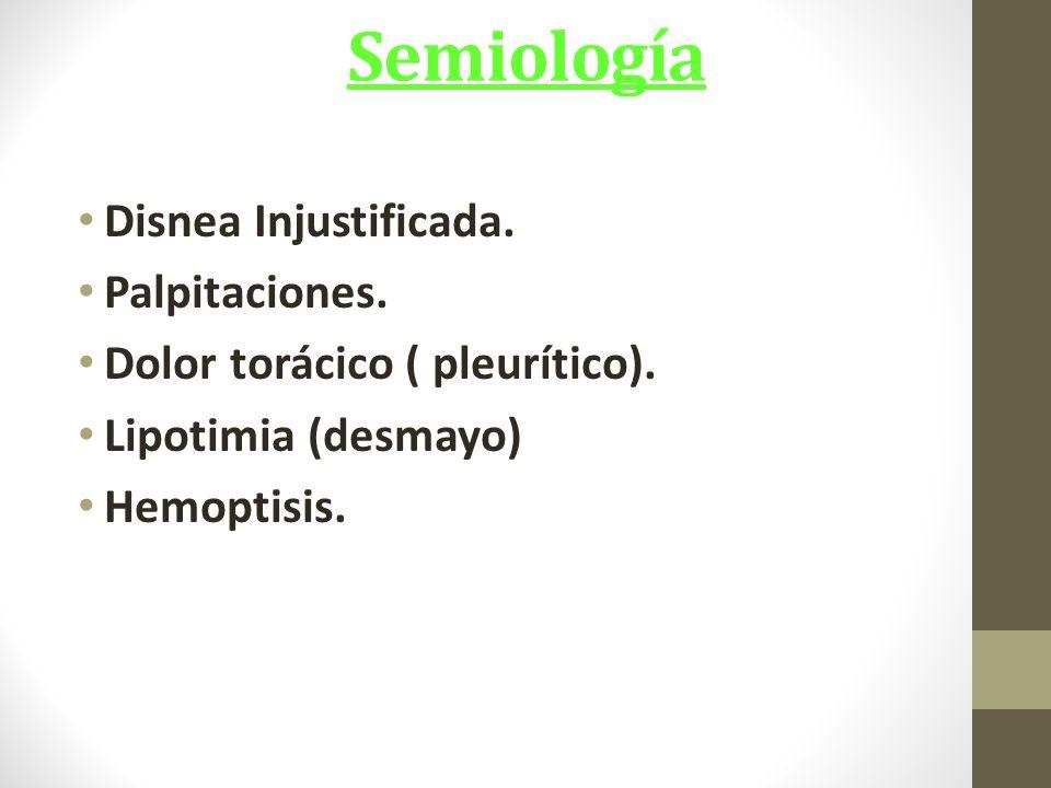 Semiología Disnea Injustificada. Palpitaciones.
