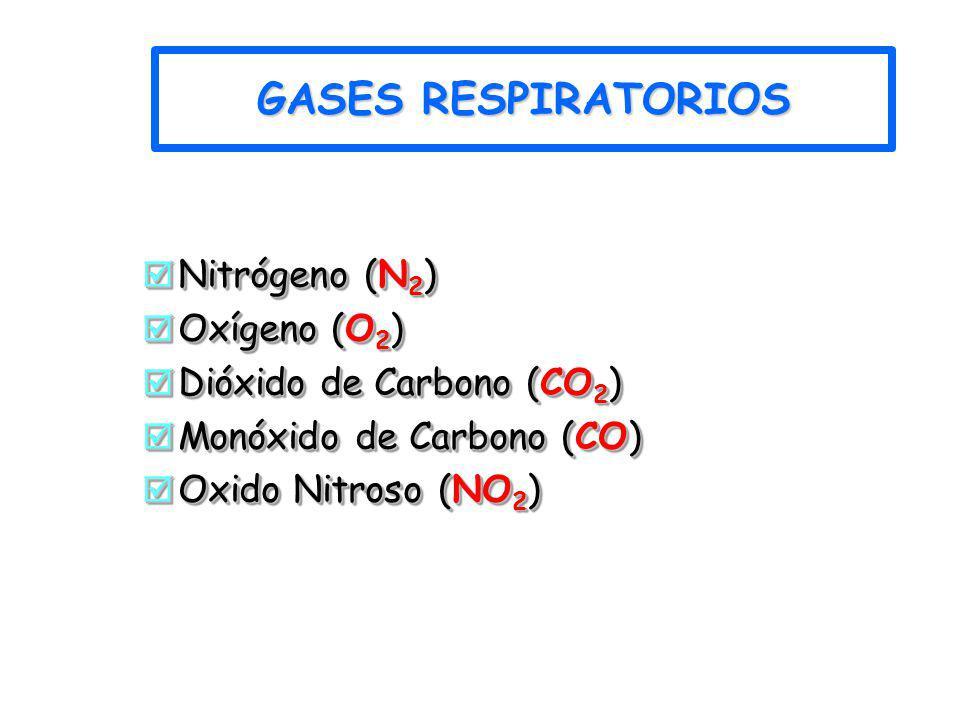 GASES RESPIRATORIOS Nitrógeno (N2) Oxígeno (O2)