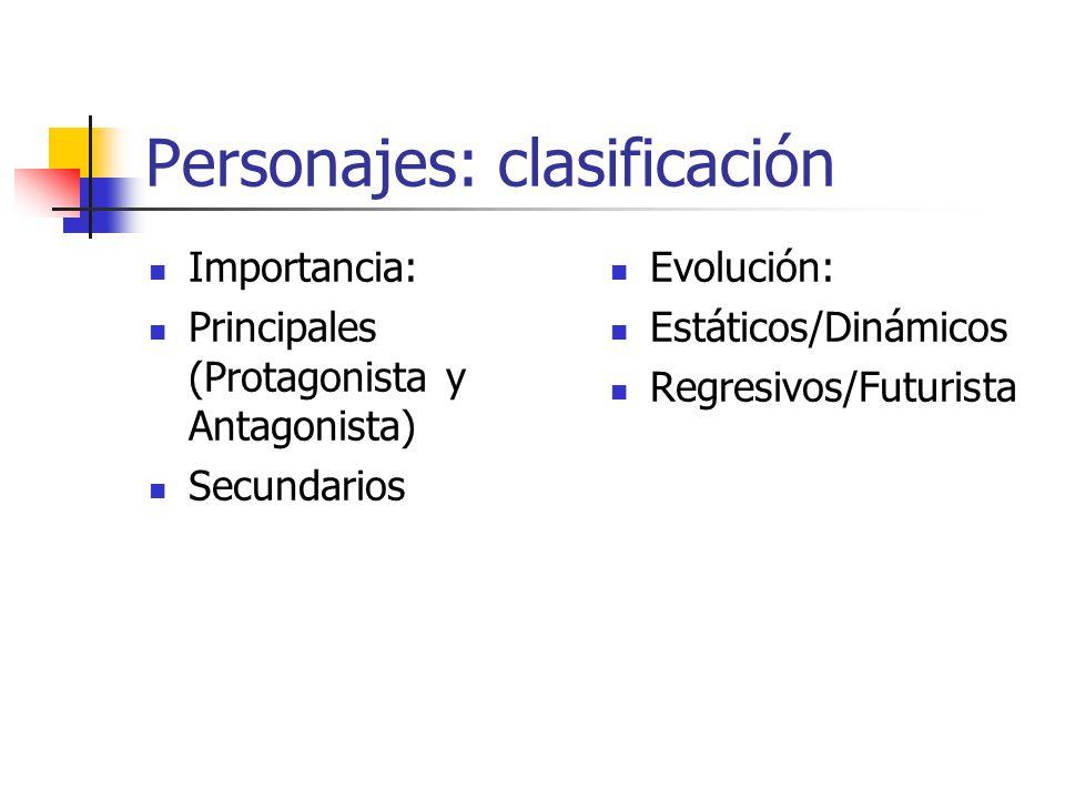 Personajes: clasificación