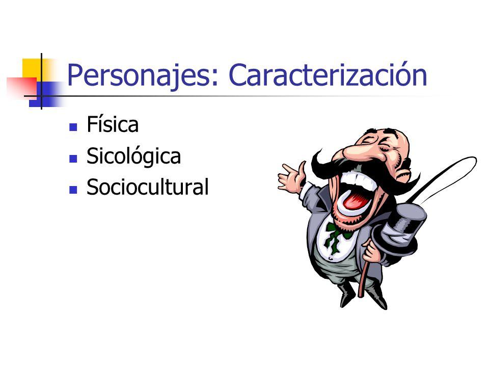 Personajes: Caracterización