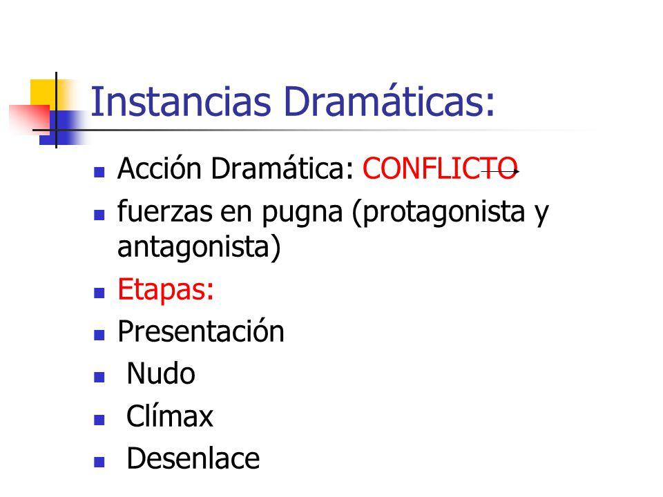 Instancias Dramáticas: