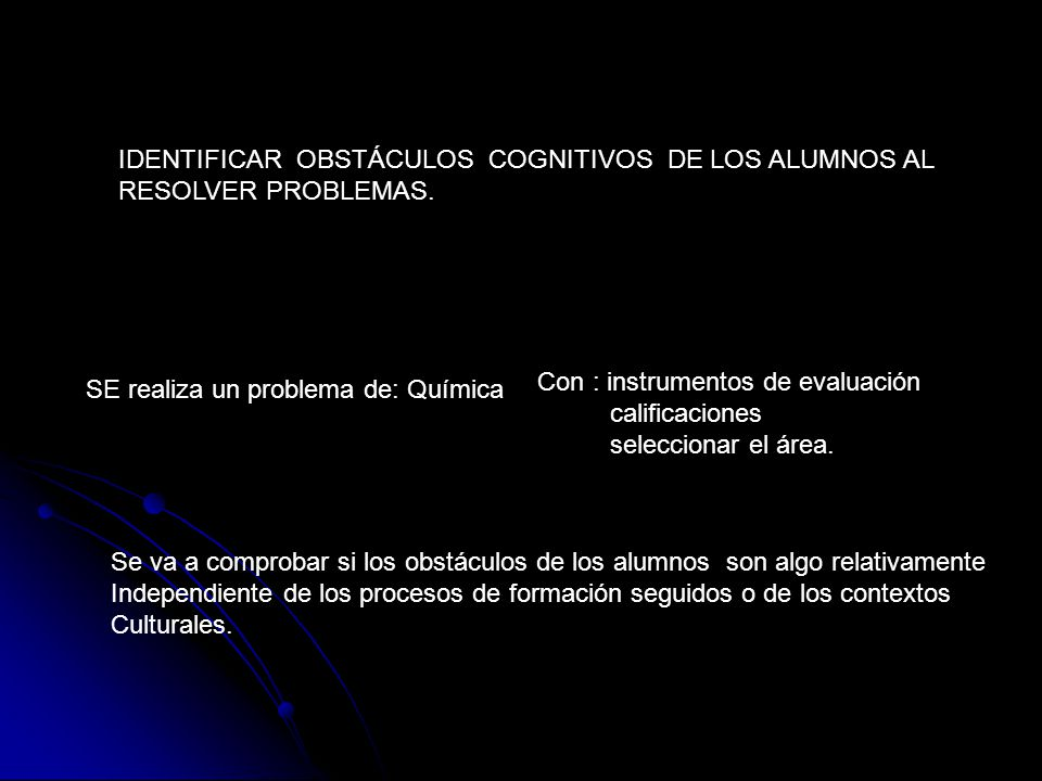 IDENTIFICAR OBSTÁCULOS COGNITIVOS DE LOS ALUMNOS AL