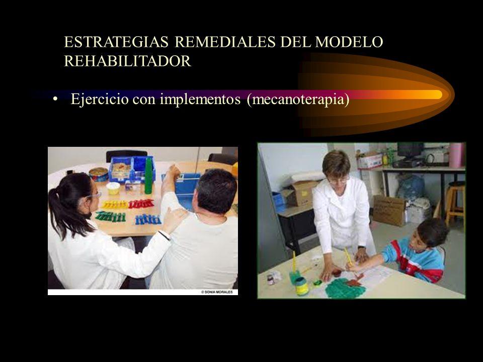 ESTRATEGIAS REMEDIALES DEL MODELO REHABILITADOR