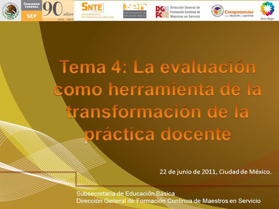 Tema 4: La evaluación como herramienta de la transformación de la práctica docente