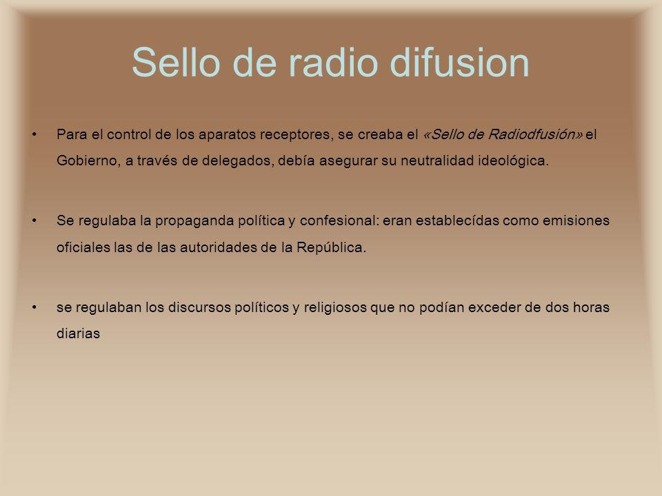 Sello de radio difusion