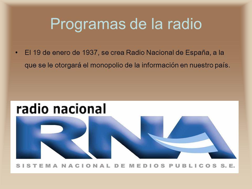Programas de la radio