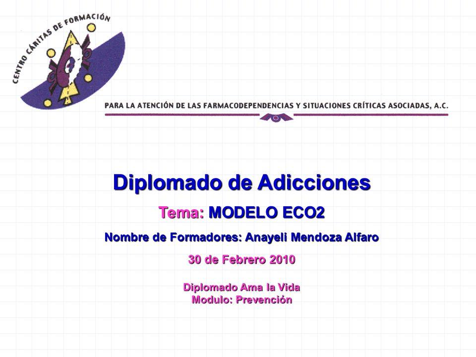 Diplomado de Adicciones Nombre de Formadores: Anayeli Mendoza Alfaro