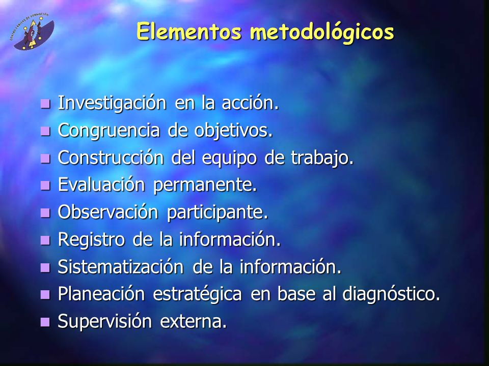 Elementos metodológicos
