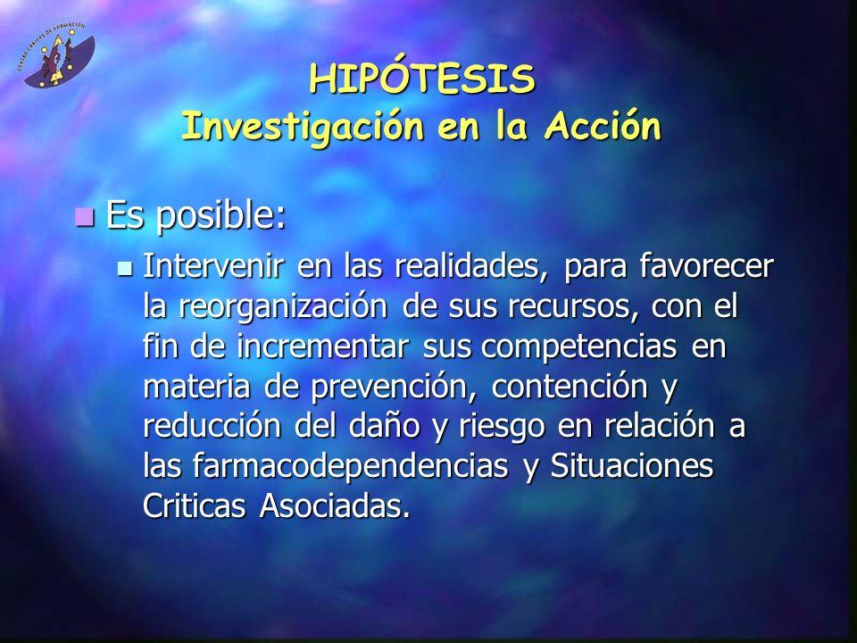 HIPÓTESIS Investigación en la Acción