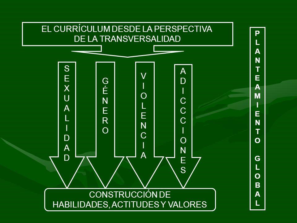 EL CURRÍCULUM DESDE LA PERSPECTIVA DE LA TRANSVERSALIDAD