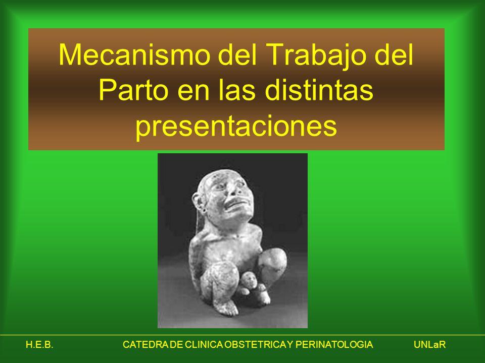 Mecanismo del Trabajo del Parto en las distintas presentaciones