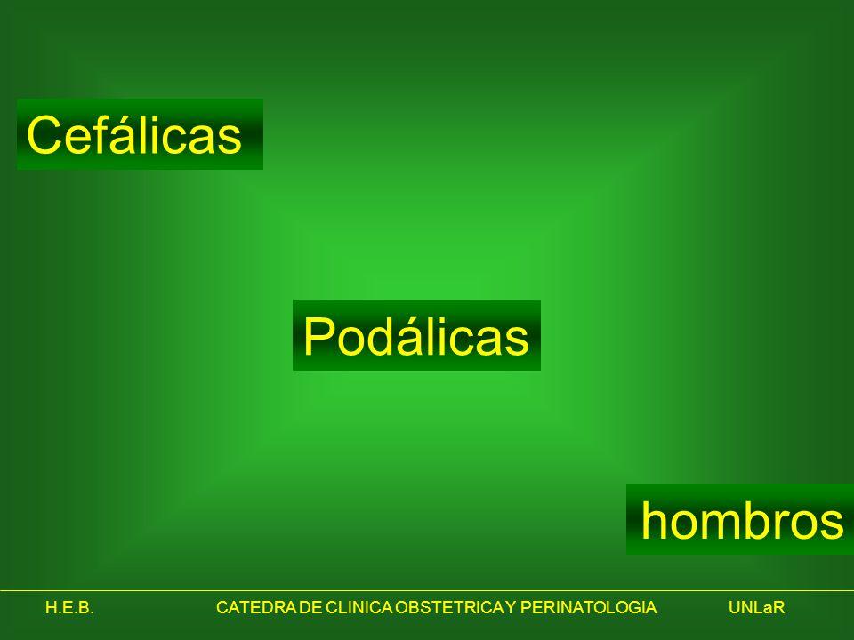 Cefálicas Podálicas hombros