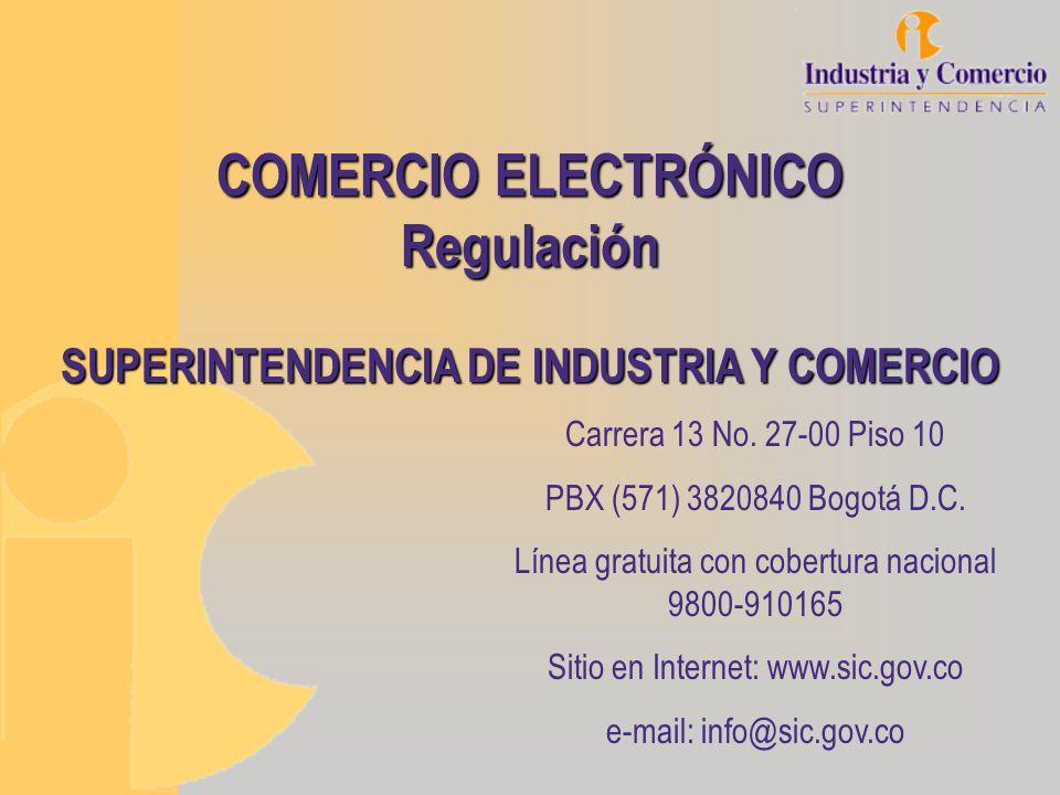 COMERCIO ELECTRÓNICO Regulación