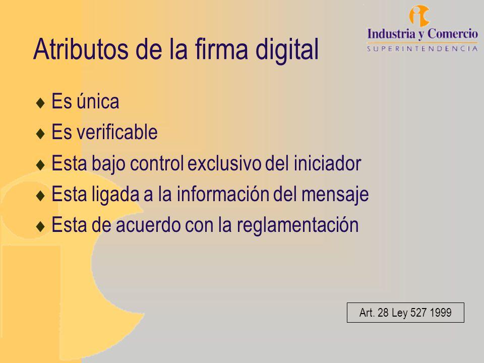 Atributos de la firma digital