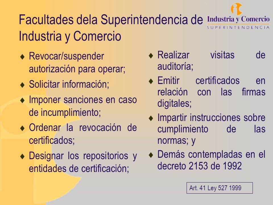 Facultades dela Superintendencia de Industria y Comercio