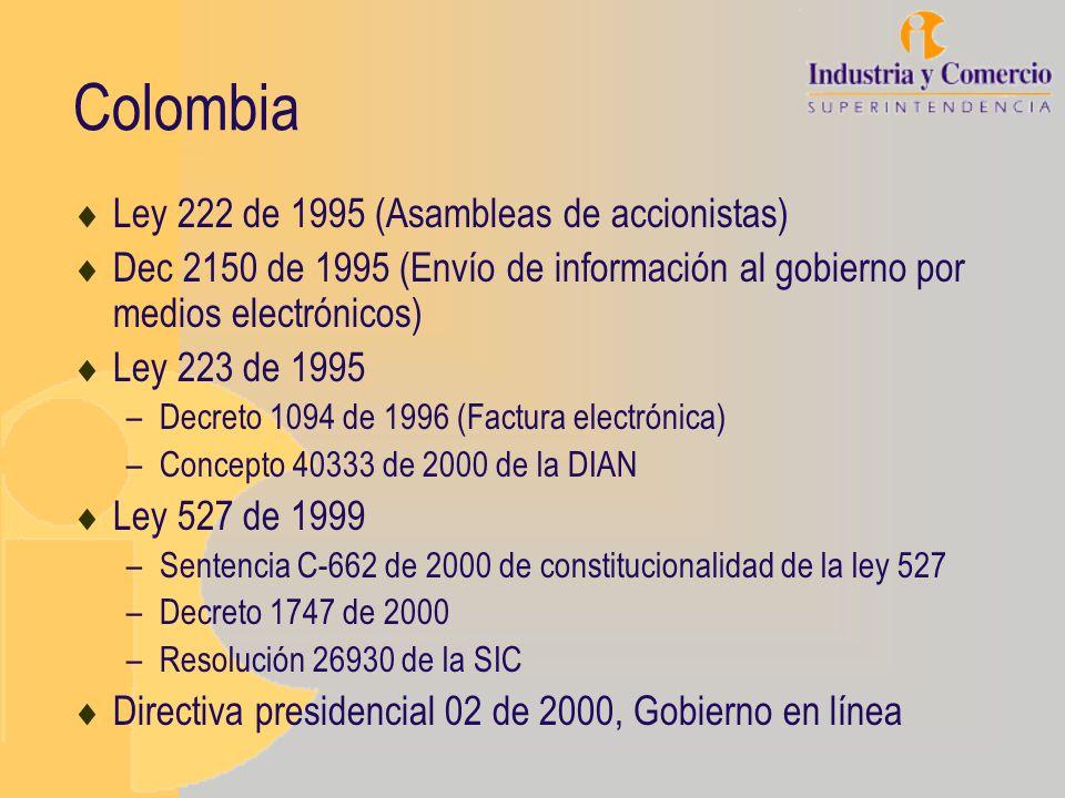 Colombia Ley 222 de 1995 (Asambleas de accionistas)