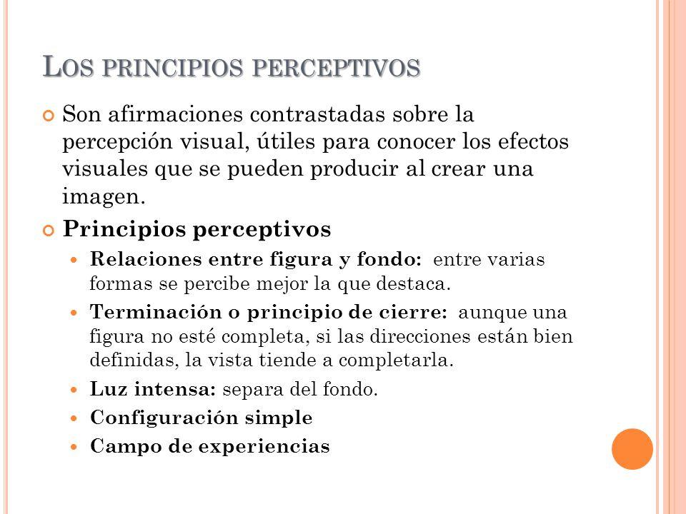 Los principios perceptivos