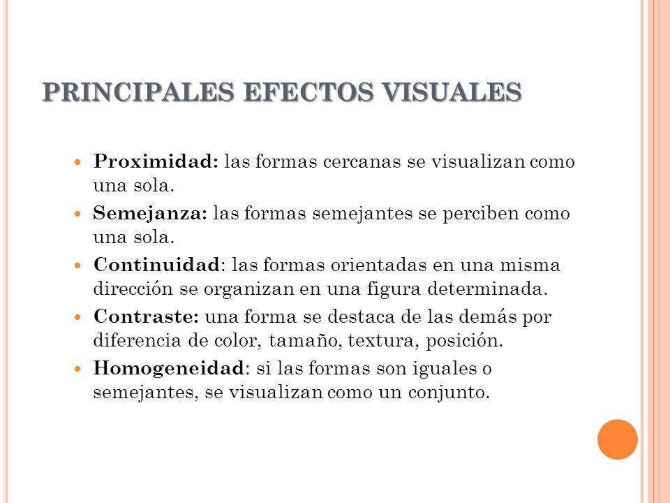 PRINCIPALES EFECTOS VISUALES