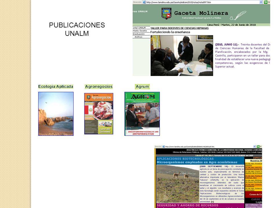 PUBLICACIONES UNALM