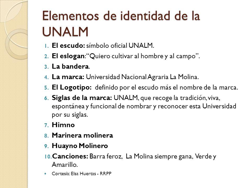 Elementos de identidad de la UNALM