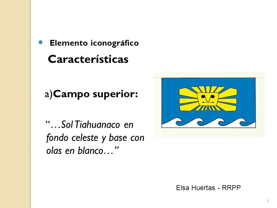 Elemento iconográfico Características a)Campo superior: