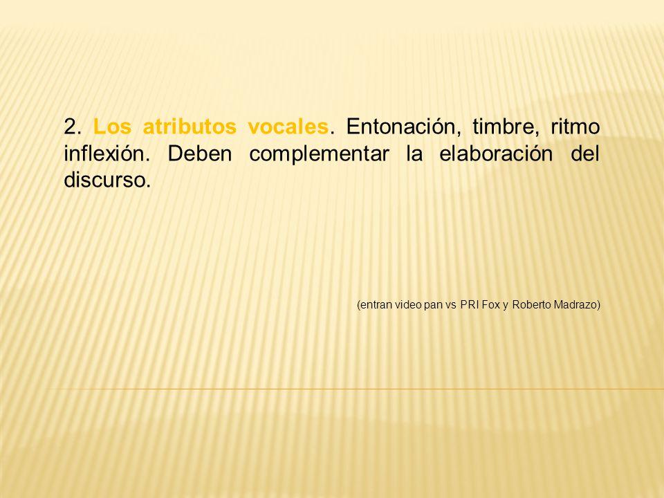 2. Los atributos vocales. Entonación, timbre, ritmo inflexión