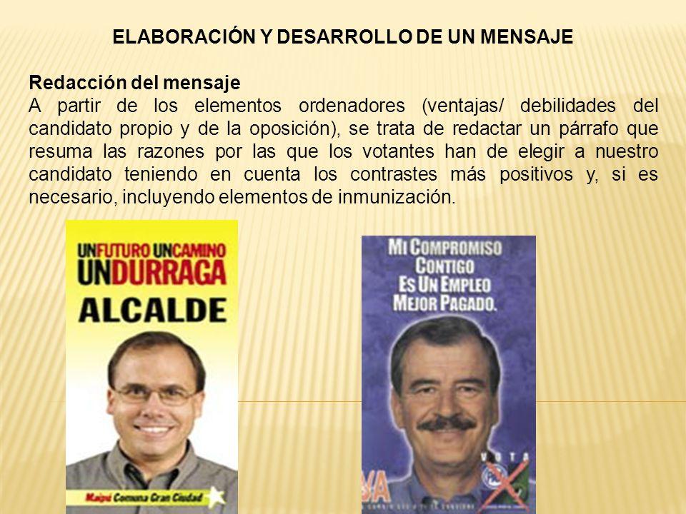 ELABORACIÓN Y DESARROLLO DE UN MENSAJE