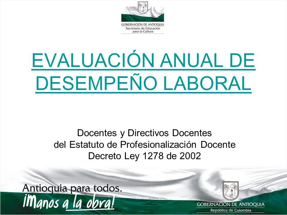 EVALUACIÓN ANUAL DE DESEMPEÑO LABORAL