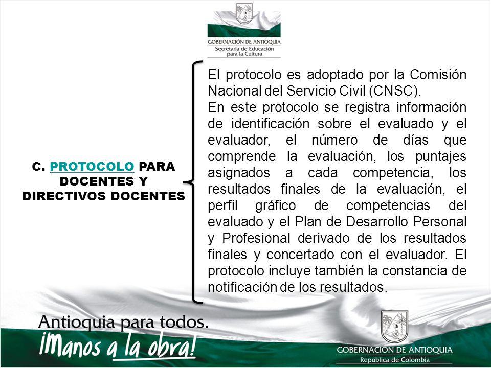 C. PROTOCOLO PARA DOCENTES Y DIRECTIVOS DOCENTES