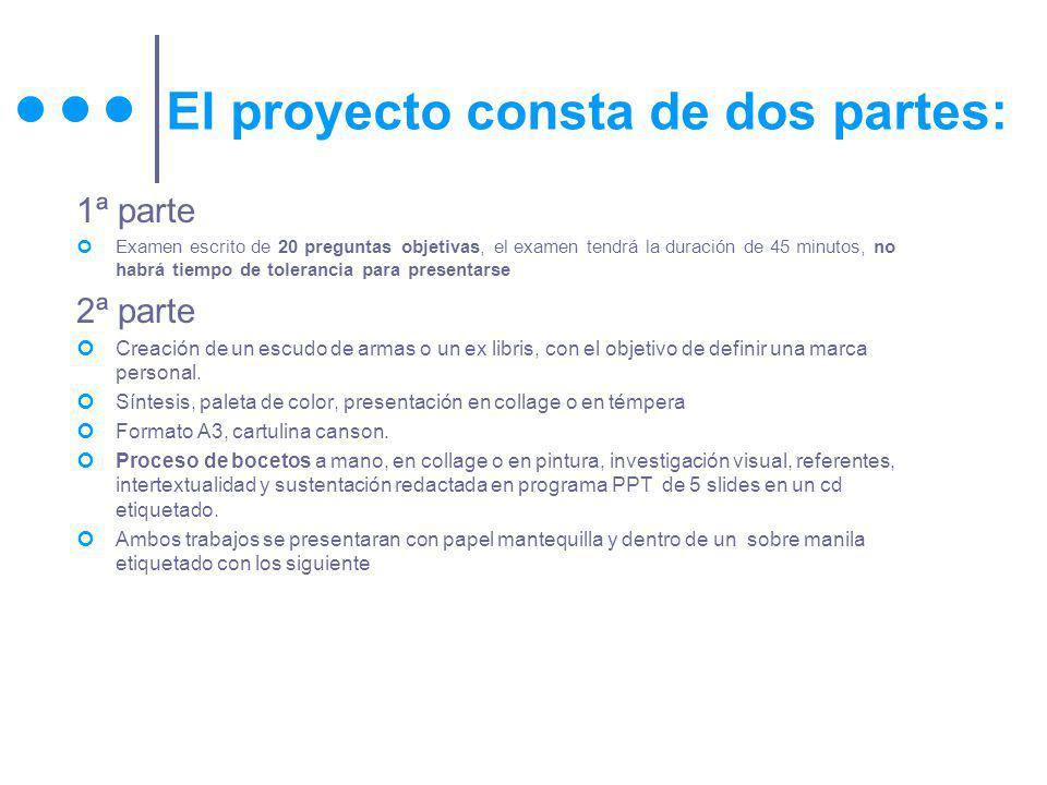El proyecto consta de dos partes: