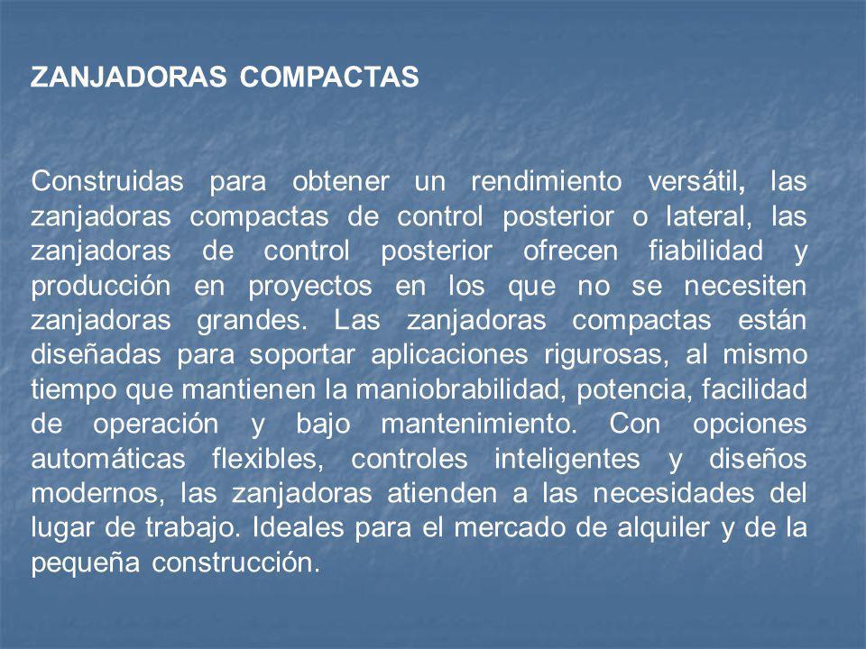 ZANJADORAS COMPACTAS