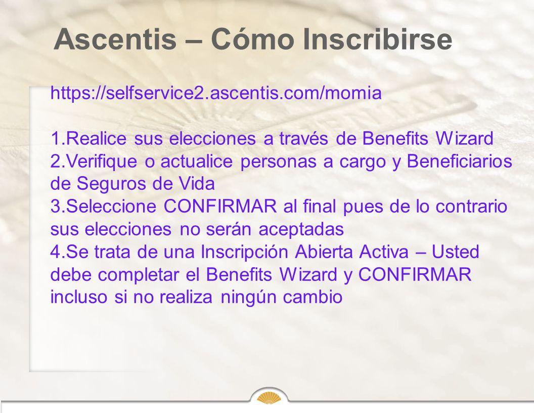 Ascentis – Cómo Inscribirse