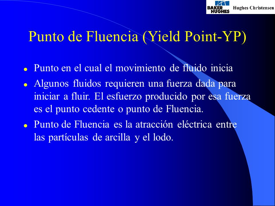 Punto de Fluencia (Yield Point-YP)