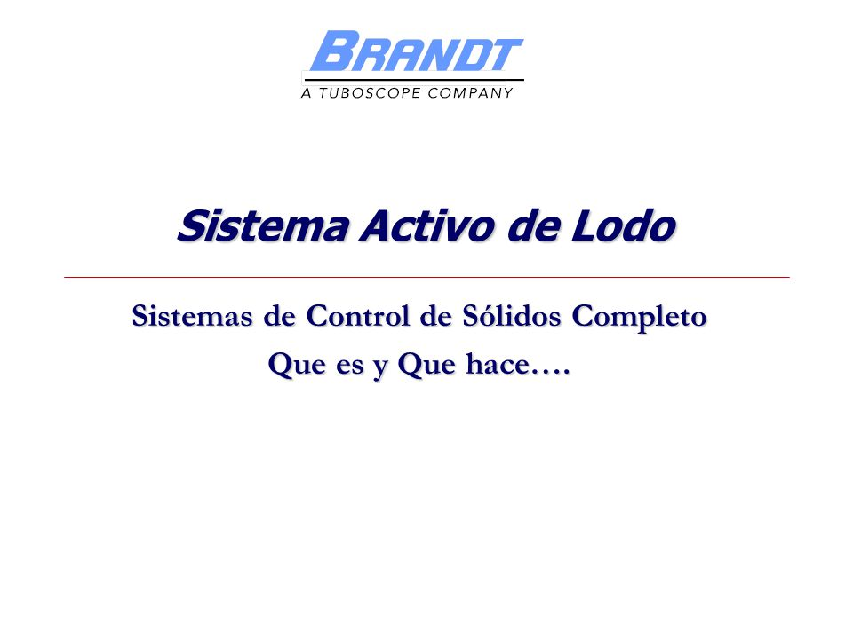 Sistemas de Control de Sólidos Completo Que es y Que hace….