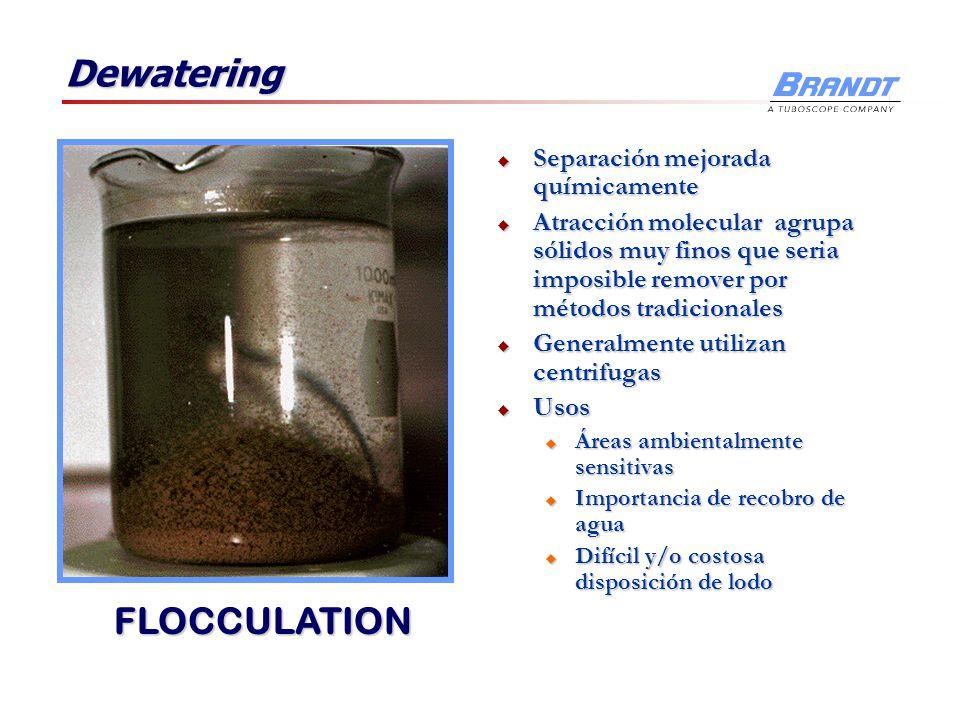 Dewatering FLOCCULATION Separación mejorada químicamente