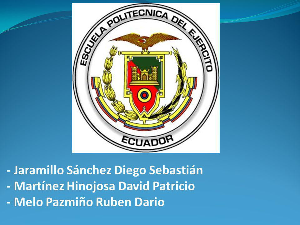 - Jaramillo Sánchez Diego Sebastián